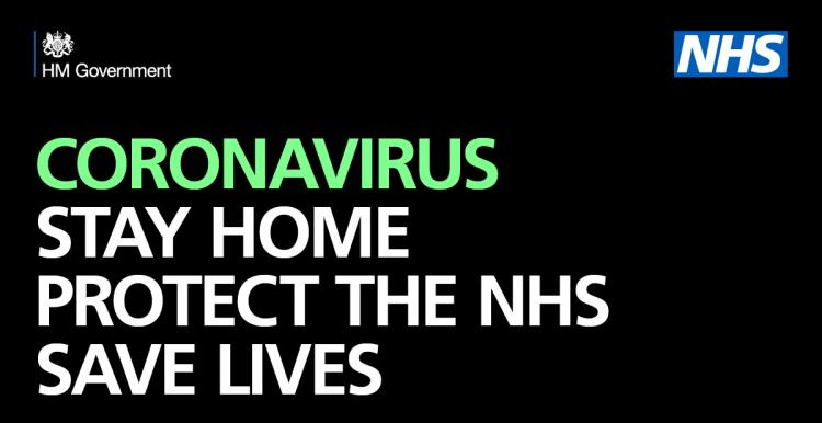 Stay at home. Portect the NHS. Save lives.