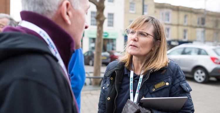 Healthwatch volunteer talking