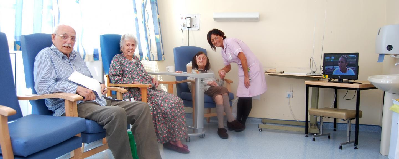 Discharge lounge patients