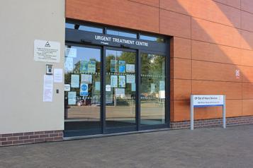Entrance to Urgent Treatment Centre Peterborough