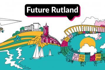 Future Rutland, county cartoon illustration