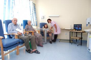 Discharge lounge patients
