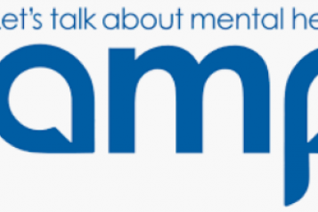 """LAMP advocacy logo - """"Let's talk about mental health"""""""