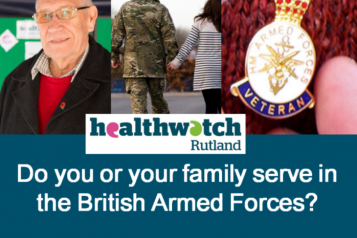 """Armed Force Social Media image - """"Do you or your family service in the British Armed Forces? We want to hear from you!"""""""