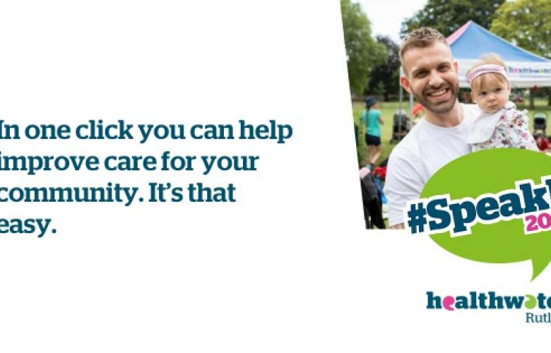 In one click you can help improve care for your community. It's that easy.