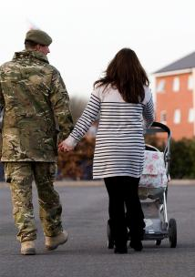 Army soldier and wife